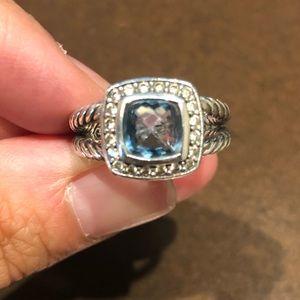 David Yurman Petite Albion Ring: Blue Topaz